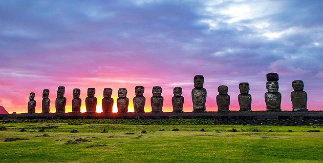 Moai Statues at Easter Island